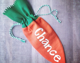 Personalized Carrot Treat Bag