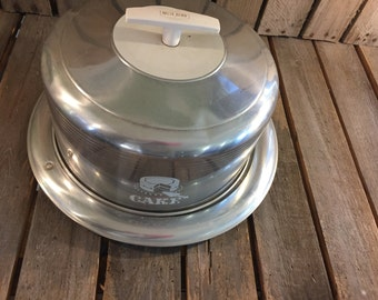 Vintage Metal Cake Stand/Cake Stand/Old Cake Stand/Silver Cake Stand/Silver Cake Tray/Silver Tray/Vintage Metal Tray/Old Metal Cake Tray/Old