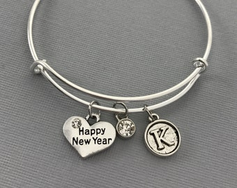 New Years Eve Happy New Year WINE CHARMS W POUCH V3