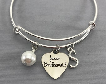 Will You be my Junior Bridesmaid - Junior Bridesmaid Proposal- Wedding Party Gift - Pearl Wedding Jewelry - Wedding -Bride Gift Ideas