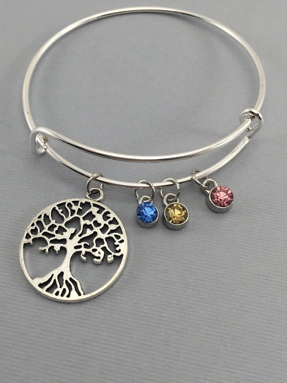 Grandma gift personalized grandmother jewelry family tree for Grandmother jewelry you can add to