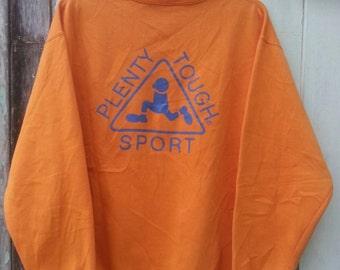 Vintage Plenty Tough Skate Brand Sweatshirt Big Logo Hip hop Swag