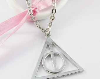 Inspired by Harry Potter Deathly Hallows Chain Necklace 46cm (NFS325)
