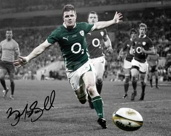 Brian O'Driscoll pre signed photo print poster - 12x8 inches (30cm x 20cm) - Superb quality