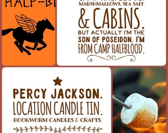 Percy Jackson and the Olympians duo candle set - Camp Halfblood and Camp Jupiter