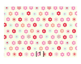 Lecien Color Basic + plus Lovely flower Japanese Fabric 100% cotton 20 oxford width 110cm (by the 100cm)