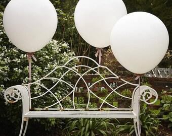Large White Balloons x 3, Wedding Balloons, Giant White Balloons, Baby Shower Balloons, Wedding Balloons, Large Party Balloons,  Big Balloon