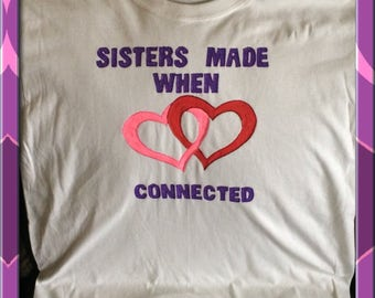 Sisters Tshirt Hand Painted
