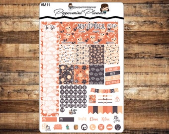 September 2017 Mini Monthly, New Mini H Planner, Monthly Set, {#M11}