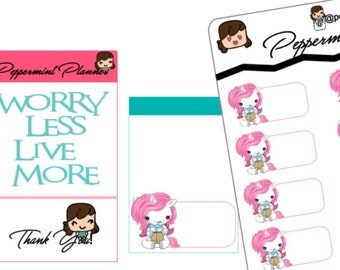 Unicorn Birthday Planner Stickers #251