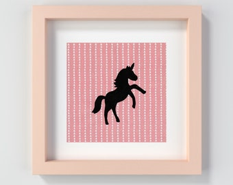 Printable Unicorn Wall Art, Unicorn Nursery Art Print, Unicorn Decor, Pink Unicorn Artwork, Unicorn Painting Print, Pink Decor, Unicorn Art