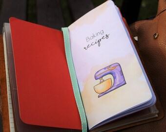 TN Recipe, Recipe Book, Gift for Mom, Fauxdori, Midori Insert, Notebook Refill, FoxyDori, ChicSparrow