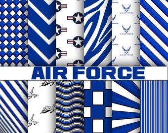 Air Force digital paper, background, scrapbook