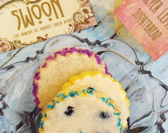 Lemon Shortbread Collection Cookie Gift Box ~ Lemon Lovers ~ Blueberry Lemon ~ Lavender Lemon ~ Meyer Lemon Shortbread Cookies
