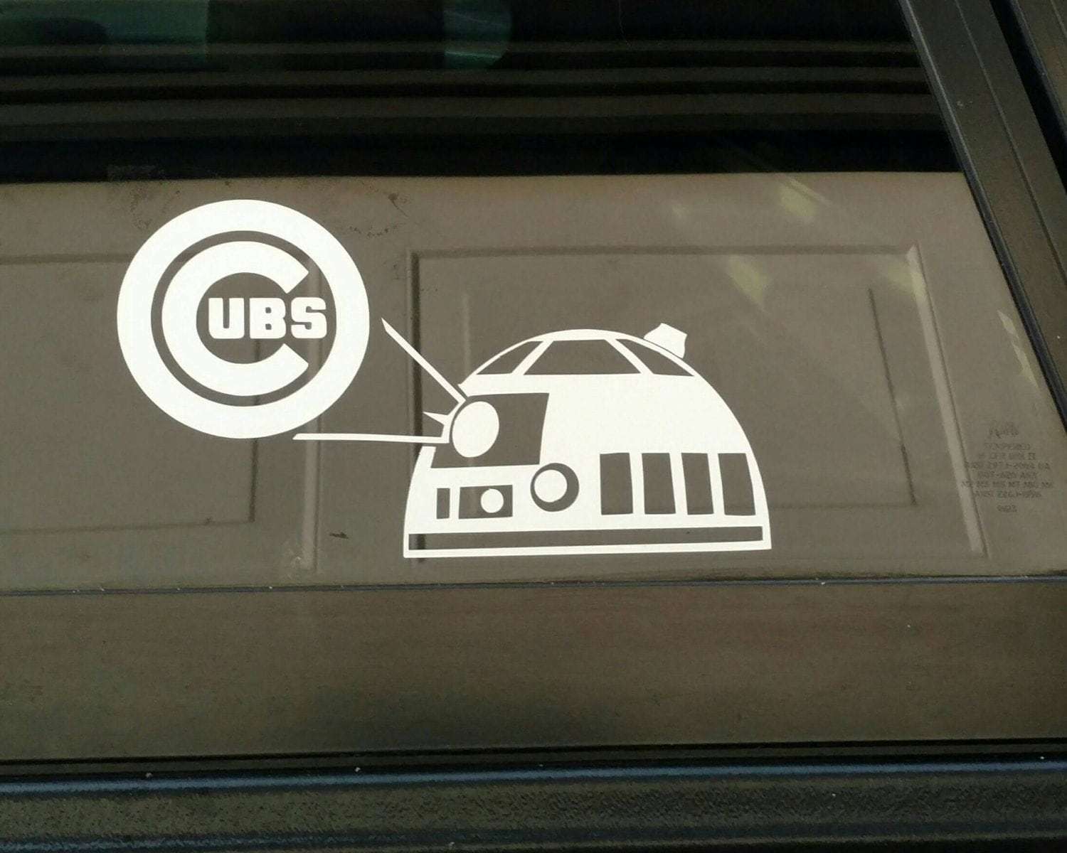 Chicago Cubs Star Wars RD Artoo Detoo Diecut Vinyl Decal - Window stickers for cars chicago