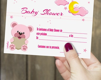 Girl Baby Shower Invitation