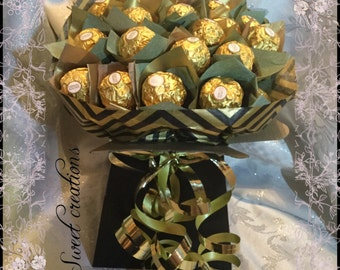 Ferrero Rocher chocolate bouquet gold and black