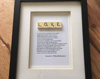 Shakespeare Sonnet 116 Scrabble Love Quote Picture