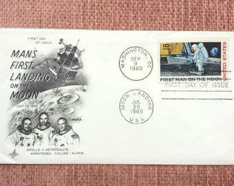 Moon Landing First Man on Moon First Day Issue US Postage Stamp FDC 1969 Washington DC
