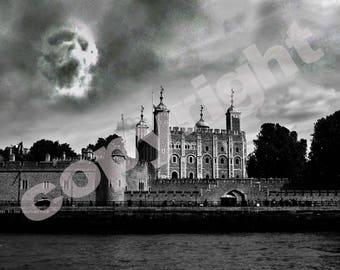 Harry Potter Lord Voldemort Dark Mark over The Tower of London Poster