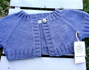 Kids knit spring short sweater/summer short sweater/baby gift