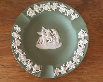 Wedgewood Sage Green ashtray // Pegasus // Mythology