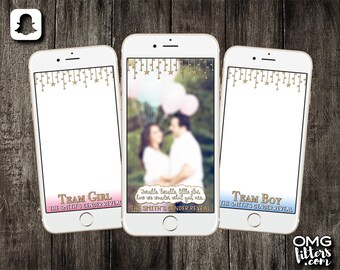 Twinkle Twinkle Little Star Gender Reveal Custom Snapchat Filter - Choose from a Single Geofilter or a Pack of 3!