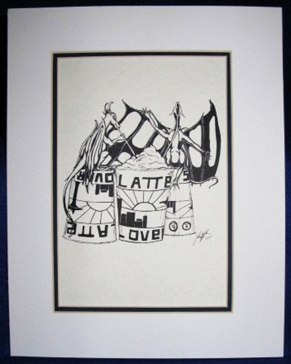 Coffee: Limited pre-matted prints. Framing size 11x13