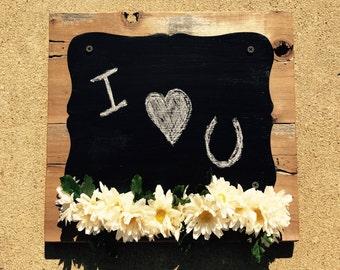 Wooden Chalkboard Sign