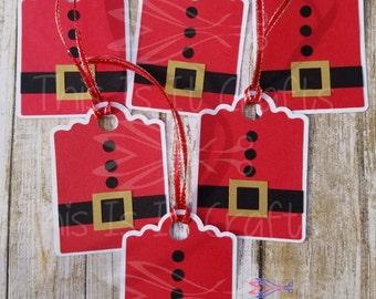 Christmas Gift Tags - Handmade Gift Tags - Santa Gift Tag - Holiday Gifts - Christmas Gifts - Santa Tags