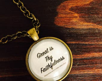 Great is Thy Faithfullness-Hymn Bracelet-pendant bracelet-antique bronze-silver