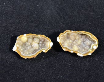 Brown Tabasco Geode, Matching Pair