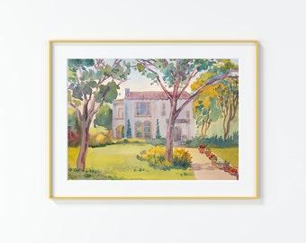 Original Watercolor Painting,Watercolor Painting,landscape,San Antonio,Laurel Heights PL