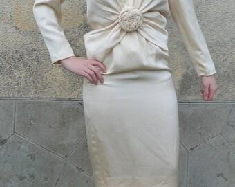 vintage 90S size 36 LANVIN silk suit