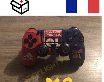 Skin stickers controller ol Olympic Lyon ps4 controller led light bar controller x 2