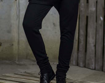 Black loose thread sweatpants   Trendy black trousers   Sports trousers   Joggers by Silvia Monetti