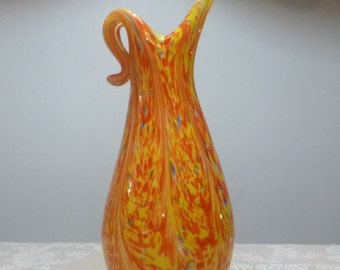 Beautiful colorful SOMMERSO MURANO VASE