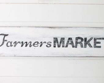 Farmers Market Distressed Rustic Farmhouse Sign