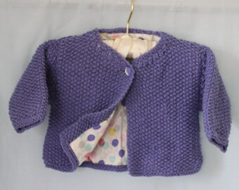 Girls cotton lined jacket.