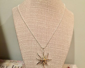 Gold Sea Star Pendant Silver Necklace Women