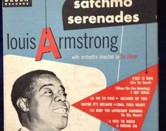 """Satchmo Serenades by Louis Armstrong with Sy Oliver 7"""" Vinyl Box Set"""