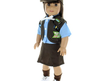 "Brownies Girl Scout Uniform for 18"" dolls"