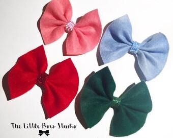 Everyday hair bows. School hair clips/ headbands. Baby bow