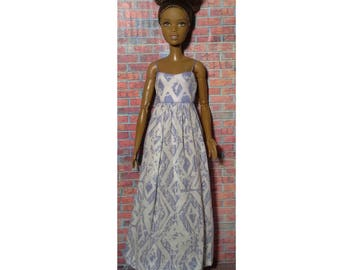 long boho,hippie,indie sun dress for Barbie, Fashion Royalty, Dynamite Girls, Liv and other fashion dolls.