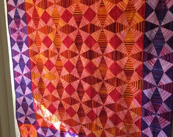 Yipes Stripes Queen Sized Quilt