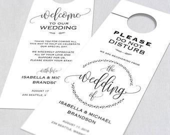 Wedding Door Hanger, Door Hanger Printable, Door Hanger Template, Please Do Not Disturb Door Hanger,  Wedding door tags, WPC_727SD2A