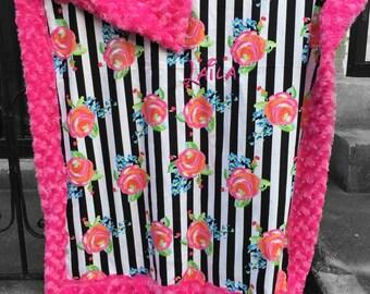 Flowers Cuddly blanket