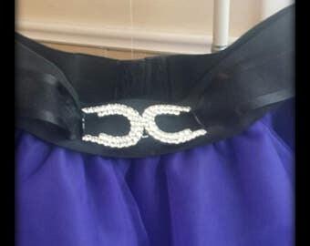 Ladies Purple Circle Tulle Skirt