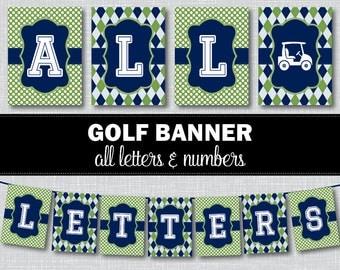 Golf Birthday Banner, Golf Baby Shower Banner, Baby Shower Banner, Birthday Banner, Golf Baby Shower, Golf Birthday, Printable Banner BS2001