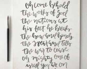 Lord of Hosts : Shane and Shane lyrics - brush lettering